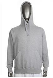 14dea958886 Mens Fleece Pullover Hood 13 oz HEATHER GRAY