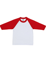 Youth Baseball Tee WHITE-RED